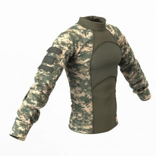 Military Combat Shirt 2 Marvelous Designer Army Clothing Garment & Pattern Files