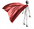 Super Hero Cape Garment File Marvelous Designer Clothes Template