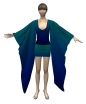 Kimono Dress Marvelous Designer 3D Garments File
