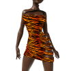 Super Sexy Tigress Dress Marvelous Designer Clothes Templates