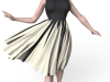 CLO 3D or Marvelous Designer can make a 3D Gored Dress