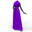 Marvelous Designer Clothes Template Garment File of Maxi Dress with a Belt and Ribbon
