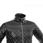 Mens' Quilted Bomber Jacket Closeup