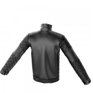 Marvelous Designer 3D Mens' Quilted Bomber Jacket Back View