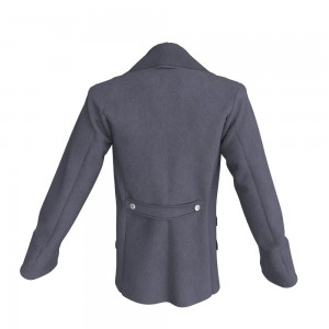 Mens' Double Breasted Coat Marvelous Designer Jackets Garment File