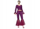 Fancy Flared Pants & Shirt Set Garment File Marvelous Designer Clothes