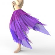 Asymmetric Fairy Skirt Marvelous Designer Clothes Garment File
