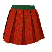 Textured Box Pleated Skirt