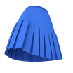 3D Box Pleated Skirt with Yoke - Marvelous Designer Garments File