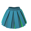 Marvelous Designer 3D Clothes Garment File of Box Pleats Skirt - wider