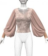 Big Fancy Bishop Sleeves Dynamic Marvelous Designer Clothes Garment File