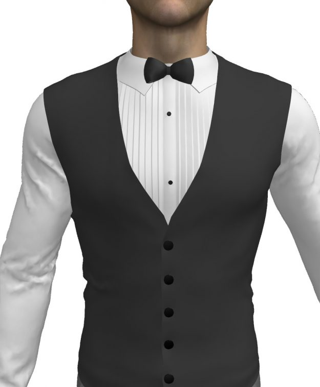 Make a Pleated Tuxedo Shirt with Bow Tie and Vest in our MD5 Workshop