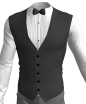 Marvelous Designer Pleated Tuxedo Shirt 3D Clothing Garment File