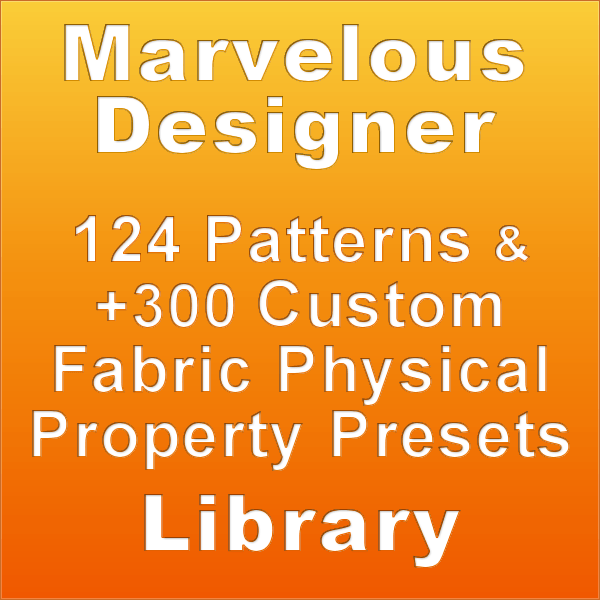124 Marvelous Designer Garments with 300 PPP Mega Pack for Artists