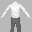 GarmentFile Tuxedo Suit Shirt V2 Marvelous Designer Clothes