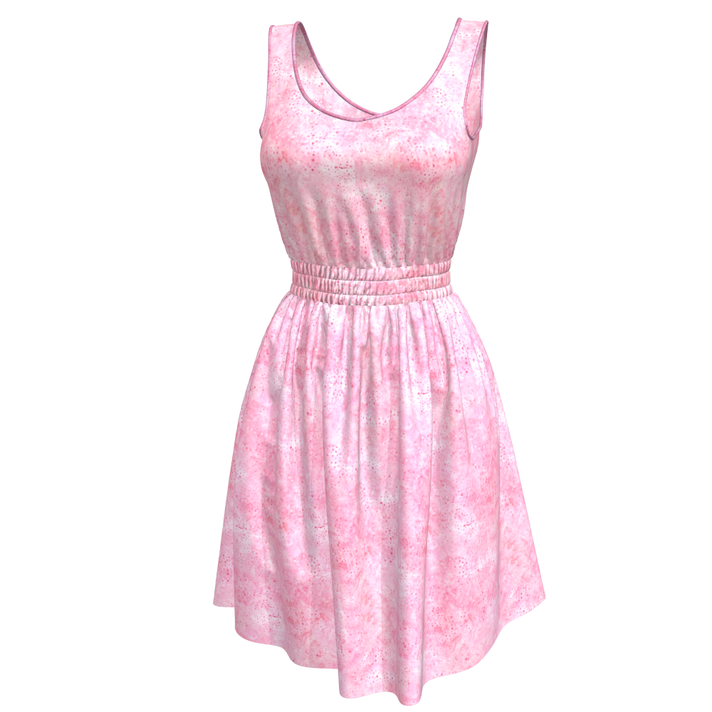 3D Marvelous Designer Dress with Seamless Shirring Texture