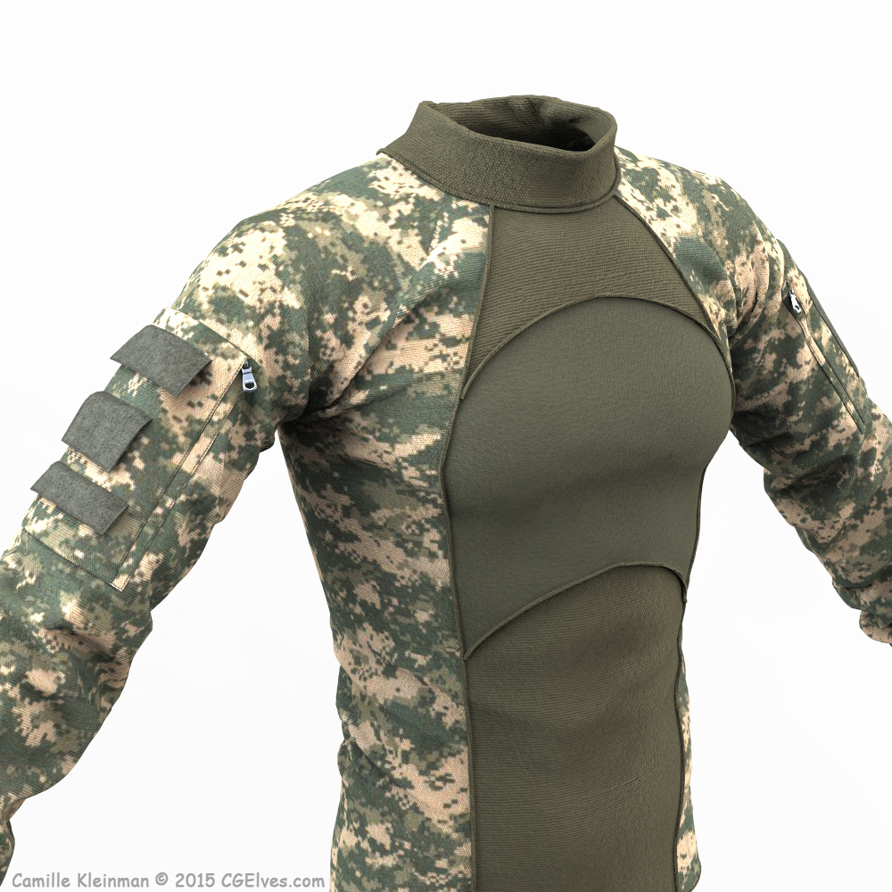Download 3D Military Clothing Free Combat Shirt 2 Model