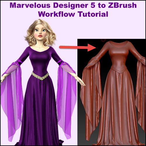 Free Marvelous Designer 5 to ZBrush Workflow Tutorial
