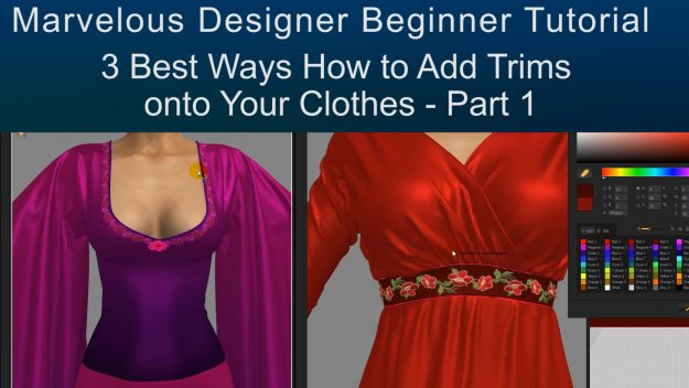 Free Marvelous Designer Tutorial on Texturing 3D Clothes