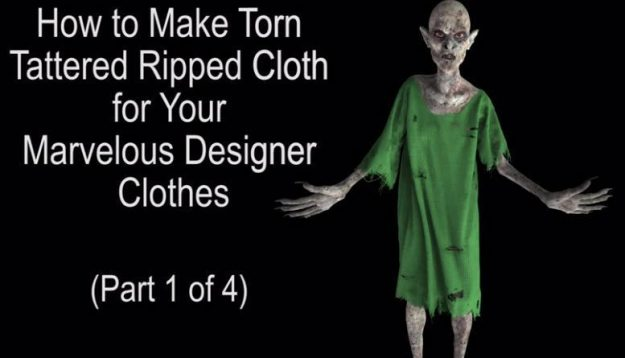 Free Marvelous Designer Tutorials Texturing Tattered Torn Clothes krk