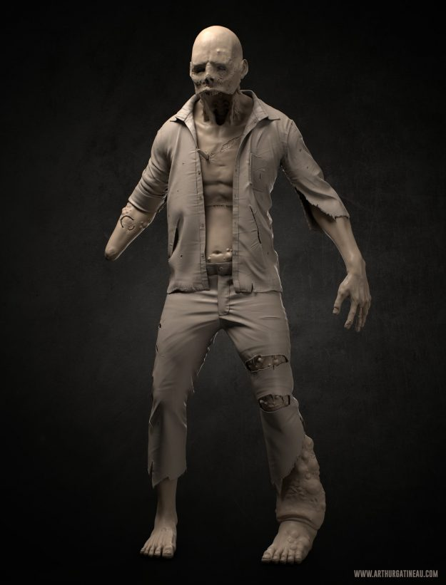 Arthur Gatineau - Marvelous Designer Course Clothing He Created for Zombie