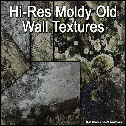 Free Hi-Res Old Moldy Wall Textures Grunge Photos Pack
