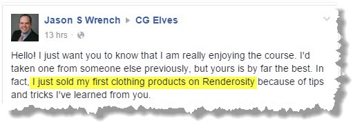 Jason-S-Wrench_testimonial review of CGElves Marvelous Designer video tutorials