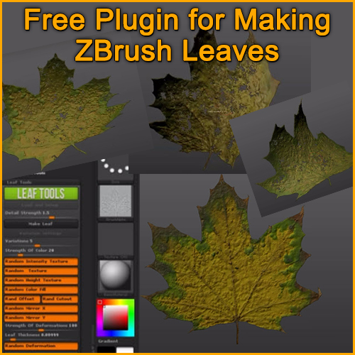 Free ZBrush Tree Leaves Plugin by Lukas Patrus