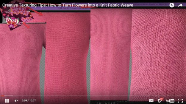 Creative Texturing Tutorial How to Create Knit Fabric Weaves