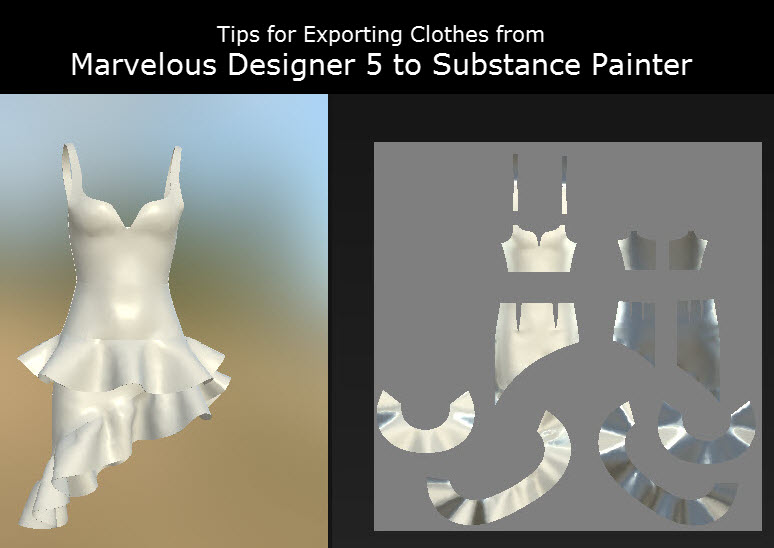 Exporting from Marvelous Designer to Substance Painter Tips