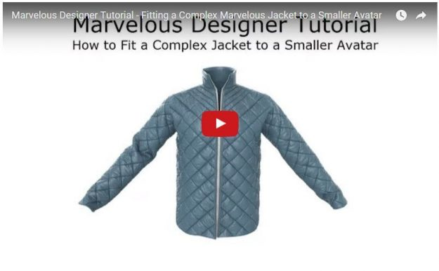 Free Marvelous Designer Tutorial How to Fit Complex Garment to Smaller Avatar