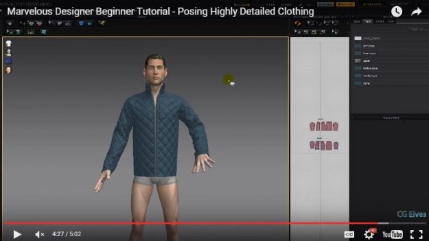 Free Marvelous Designer Tutorial for Beginners Posing Complex Garments