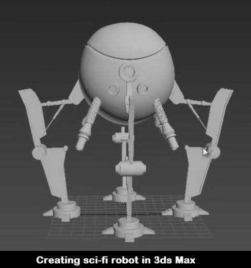 Creating sci-fi robot in 3ds Max