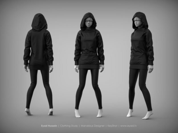 Eyad Hussein Marvelous Designer Clothes