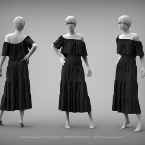 Eyad Hussein Marvelous Designer Dress