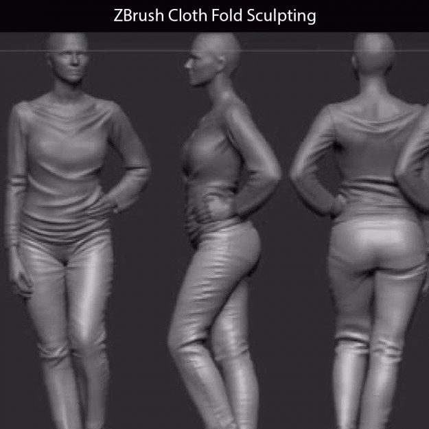 ZBrush Cloth Fold Sculpting Final