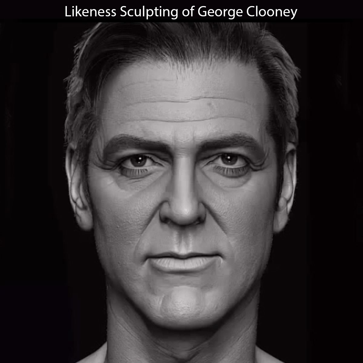 George Clooney Likeness Sculpting in ZBrush by Hossein Diba