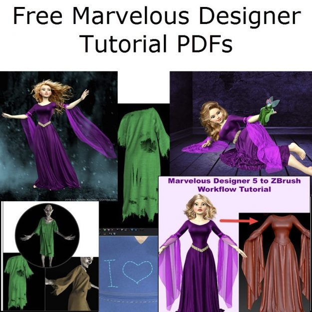 Free Marvelous Designer Tutorial PDF Downloads