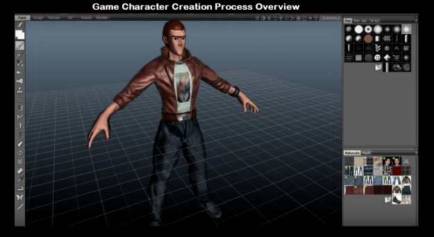 Game character creation process