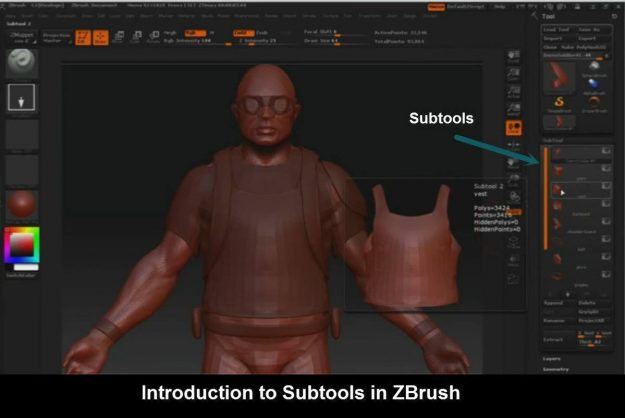 Introduction to Subtools in ZBrush