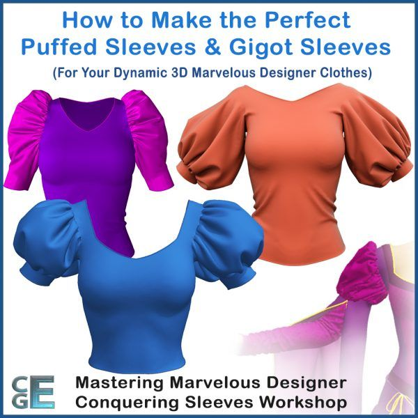 MD124 - Workshop Tutorial How to Create 3D Puffed Sleeves and Gigot Sleeves in Marvelous Designer