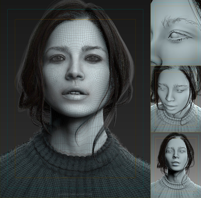 Pasquale Giacobelli wireframe of Realistic Woman