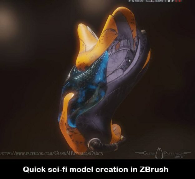 Quick sci-fi game asset creation in ZBrush
