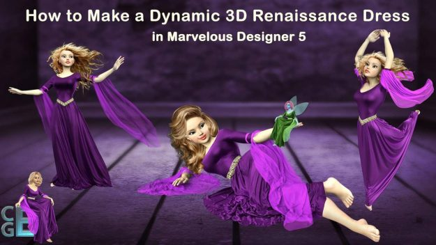 Renaissance Dress - Free Marvelous Designer 5 Video Tutorial Workshop