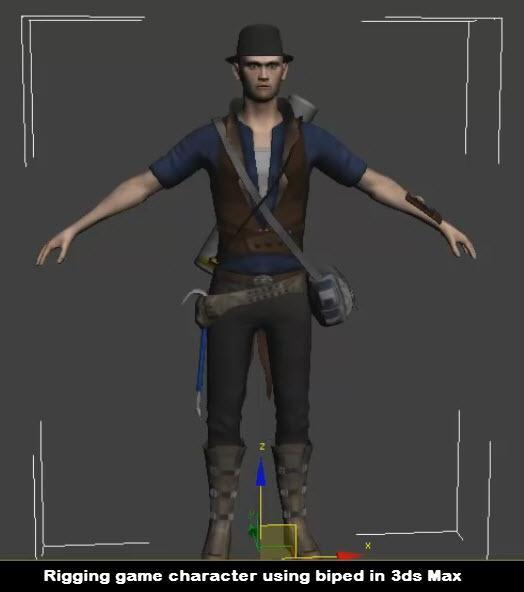 Rigging game character using biped