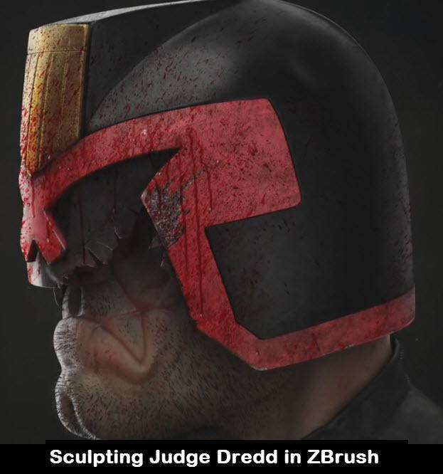 Sculpting Judge Dredd in ZBrush
