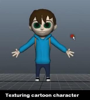 Texturing cartoon character