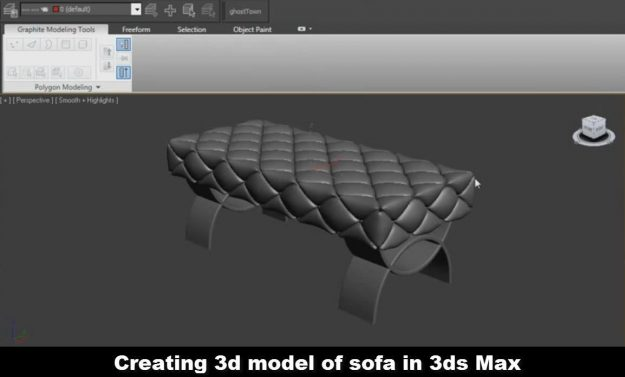 Creating 3d model of sofa in 3ds Max