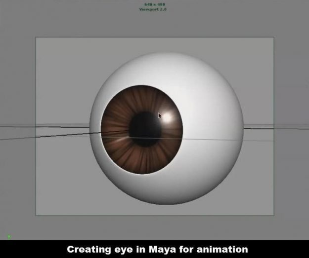 Creating eye for cartoon character in Maya
