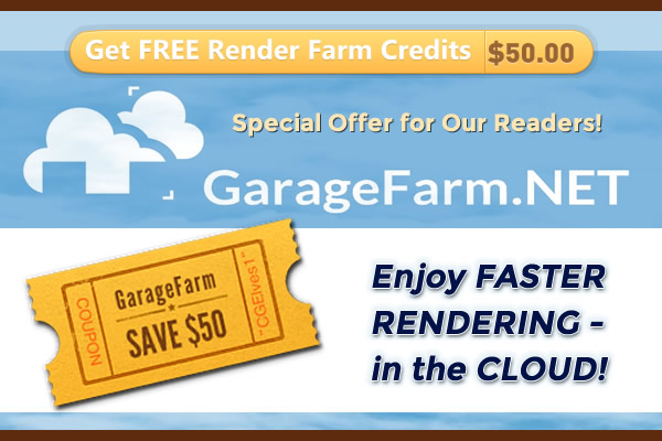 GarageFarm Coupon Cloud Rendering Credits